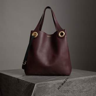 Burberry The Large Leather Grommet Detail Tote