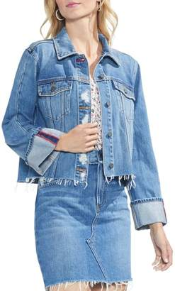 Vince Camuto Fray Hem Denim Jacket