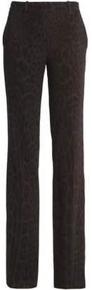 Roberto Cavalli Leopard-Print Crepe Bootcut Pants