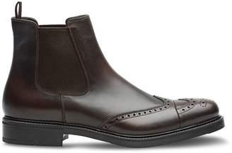 Prada antiqued-effect boots