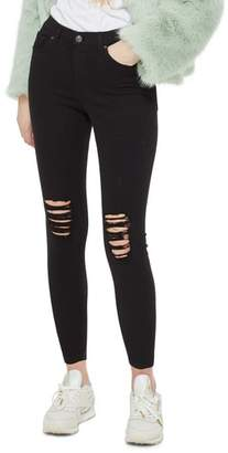 Topshop Ripped Petite Jamie Jeans
