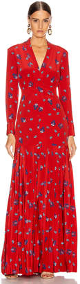 Rebecca De Ravenel Pleated Dress in Red Combo | FWRD