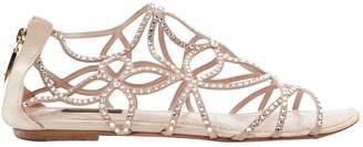 Louis Vuitton Pink Leather Sandals