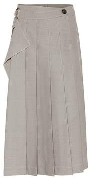 Joseph Fleet checked pleated midi skirt