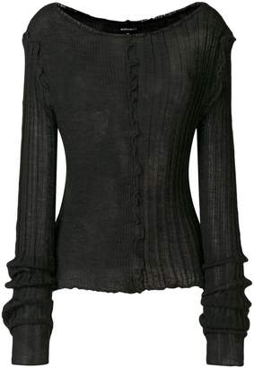 Ann Demeulemeester rib detail knitted top