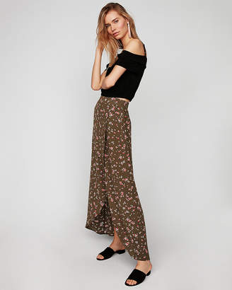 Express Floral Wrap Maxi Skirt