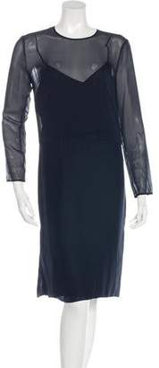 Jenni Kayne Silk Long Sleeve Dress