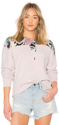 Marcelo Burlon County of Milan Flower Wings Crewneck Pullover