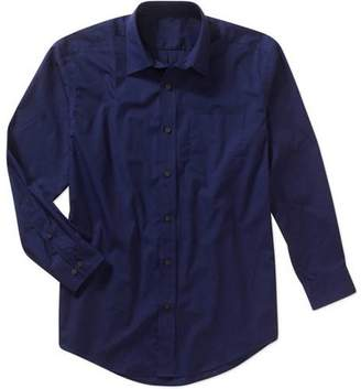 George Men's Blue Sapphire Solid Button Up Shirt