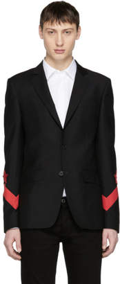 Givenchy Black Chevron Star Blazer