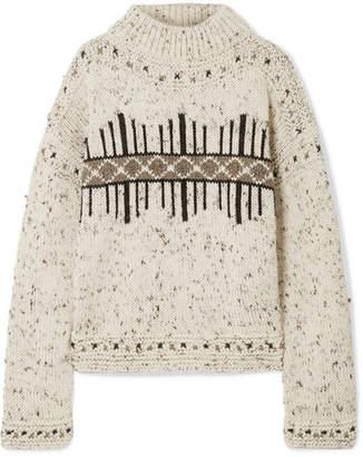 Isabel Marant Elwyn Wool-blend Sweater - Ecru