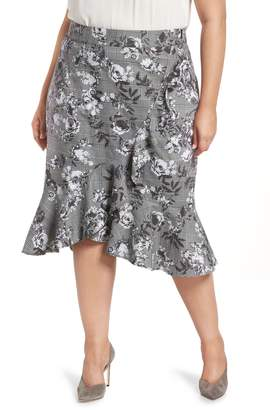 Rachel Roy Bailen Pattern Mix Skirt