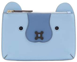 Anya Hindmarch Husky Leather Coin Purse - Womens - Blue