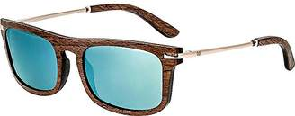 Earth Wood Queensland Polarized Wayfarer Sunglasses