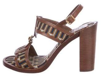 Tory Burch Woven Ankle Strap Sandals