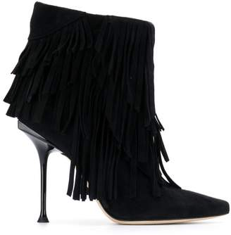 Sergio Rossi fringed ankle boots