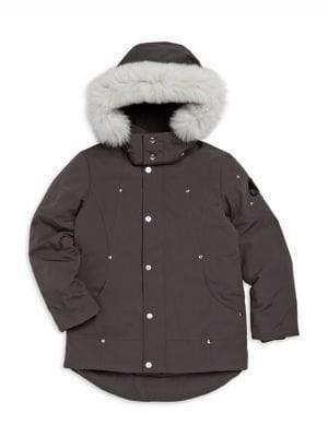 Moose Knuckles Little Kid's& Kid's Fox Fur-Trim Parka