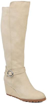 Journee Collection Womens Jc Veronica-Wc Dress Wedge Heel Zip Boots