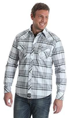Wrangler Men's Size Big & Tall Rock 47 Two Pocket Long Sleeve Snap Shirt