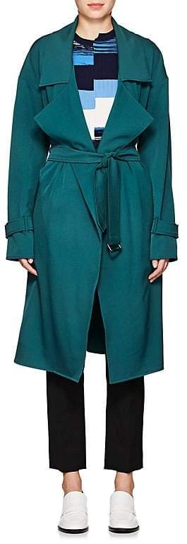 Ji Oh Women's Wool-Blend Belted Trench Coat