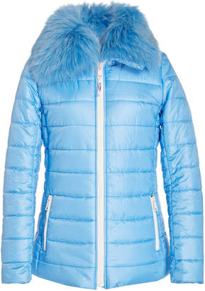 Yves Salomon Paris Fur-Trimmed Quilted Shell Puffer Jacket