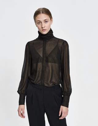 Just Female Laire Sheer Metallic Blouse