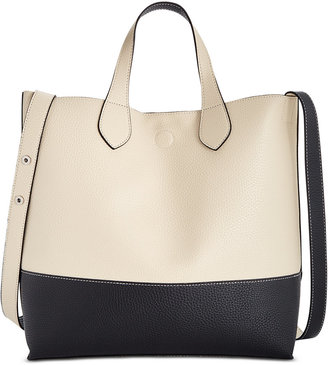 Style & Co Clean Cut Reversible Crossbody Tote, Only at Macy's $88.50 thestylecure.com