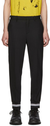 Neil Barrett Black Wool Gabardine Trousers