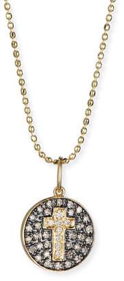 Sydney Evan Cross Medallion Necklace with Diamonds