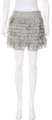 Calypso Silk Pleated Mini Skirt