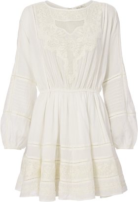 LOVESHACKFANCY Noelle Embroidered Mini Dress $365 thestylecure.com