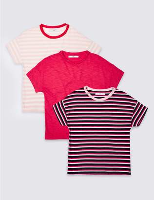 Marks and Spencer 3 Pack Striped T-Shirt (3-16 Years)