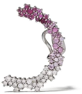 Ana Khouri 18kt white gold diamond Marie earcuff