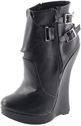 "Wonderheel 7"" wedges heel ankle boots sexy fetish women sexy boots"