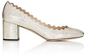 Chloé Women's Lauren Metallic Leather Pumps - Ia061Grey Glitter
