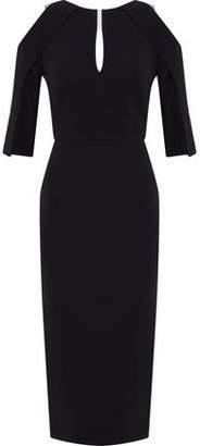 Roland Mouret Cold-Shoulder Cutout Crepe Dress