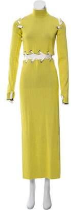 Proenza Schouler Long Sleeve Maxi Dress Yellow Long Sleeve Maxi Dress