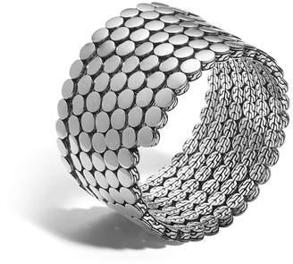 John Hardy Dot Silver Multiple Coil Bracelet, Size M