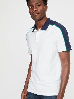 Old Navy Built-In Flex Moisture-Wicking Color-Block Piped Pro Polo for Men