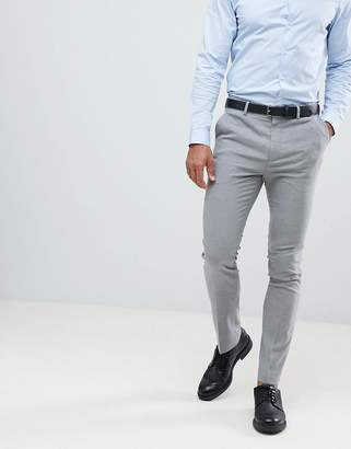 New Look Smart Skinny Pants In Gray