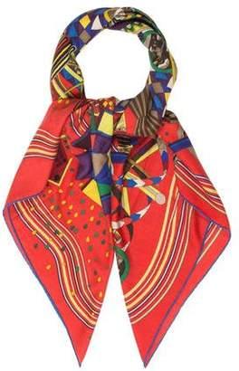 Hermes Le Laboratoire Du Temps Silk Cashmere Scarf