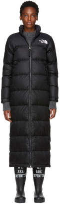 The North Face Black Down Nuptse Duster Jacket
