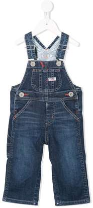 Mikihouse Miki House stripe lined denim dungarees