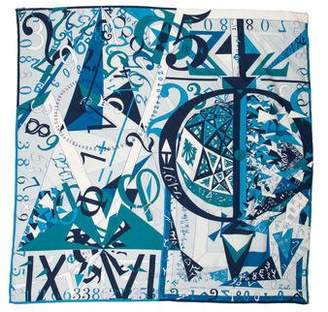 Hermes Printed Cotton and Silk Scarf