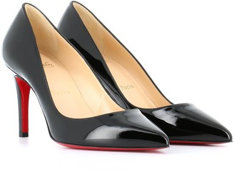 new concept 3623f 5e45a Christian Louboutin Black Slip On Heels - ShopStyle UK