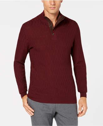 Tasso Elba Men's Supima Mock-Neck Textured Sweater
