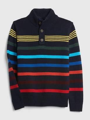 Gap Henley-Button Mockneck Sweater