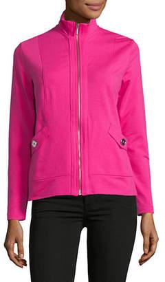 Karen Scott Petite Terry Mock Jacket