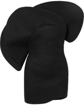 254f7965f7 Saint Laurent One-shoulder Wool Mini Dress - Black