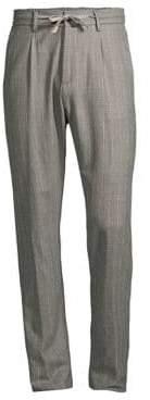 Eleventy Raised Boucle Chalk Stripe Pants